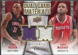 2009/10 Upper Deck Game Materials Dual Gold #DGSM Shawn Marion Tracy McGrady /150
