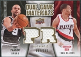 2009/10 Upper Deck Game Materials Dual Gold #DGTB Brandon Roy Tony Parker /150