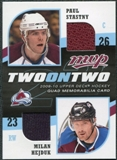 2009/10 Upper Deck MVP Two on Two Jerseys JHBKS Mikko Koivu Pierre-Marc Bouchard Milan Hejduk Paul Stastny