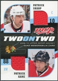2009/10 Upper Deck MVP Two on Two Jerseys #JNSPK Patrick Sharp Patrick Kane Michael Peca Rick Nash