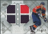 2009/10 Upper Deck Black Diamond Jerseys Quad #QJDB David Booth