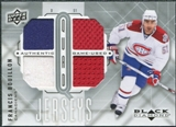 2009/10 Upper Deck Black Diamond Jerseys Quad #QJFB Francis Bouillon