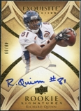 2009 Upper Deck Exquisite Collection #123 Richard Quinn RC Autograph /99