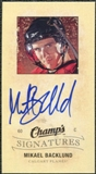 2009/10 Upper Deck Champ's Signatures #CSBA Mikael Backlund Autograph