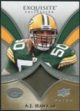 2009 Upper Deck Exquisite Collection Patch #PAH A.J. Hawk /75