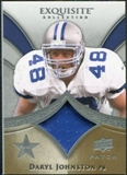 2009 Upper Deck Exquisite Collection Patch #PDJ Daryl Johnston 26/75