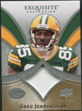 2009 Upper Deck Exquisite Collection Patch #PGJ Greg Jennings /75