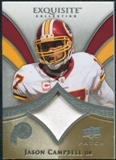 2009 Upper Deck Exquisite Collection Patch #PJC Jason Campbell /75