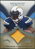 2009 Upper Deck Exquisite Collection Patch #PLT LaDainian Tomlinson /75