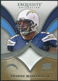 2009 Upper Deck Exquisite Collection Patch #PSM Shawne Merriman /75