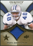 2009 Upper Deck Exquisite Collection Patch Gold #PDJ Daryl Johnston /40