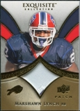 2009 Upper Deck Exquisite Collection Patch Gold #PML Marshawn Lynch 17/40