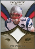 2009 Upper Deck Exquisite Collection Patch Gold #PWW Wes Welker /40