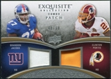 2009 Upper Deck Exquisite Collection Patch Combos #PJ Brandon Jacobs Clinton Portis 49/50