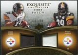 2009 Upper Deck Exquisite Collection Patch Combos Gold #WP Hines Ward Willie Parker 11/20