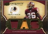 2009 Upper Deck Exquisite Collection Single Player Triple Patch #3PCP Clinton Portis 28/30