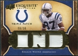 2009 Upper Deck Exquisite Collection Single Player Triple Patch #3PRW Reggie Wayne 8/30