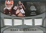 2009 Upper Deck Exquisite Collection Rare Materials #4BR Brian Robiskie /35