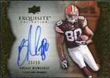 2009 Upper Deck Exquisite Collection Endorsements Gold #EBR Brian Robiskie Autograph /15