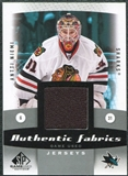 2010/11 Upper Deck SP Game Used Authentic Fabrics #AFAN Antti Niemi