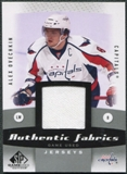 2010/11 Upper Deck SP Game Used Authentic Fabrics #AFAO Alexander Ovechkin
