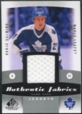 2010/11 Upper Deck SP Game Used Authentic Fabrics #AFBS Borje Salming