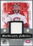 2010/11 Upper Deck SP Game Used Authentic Fabrics #AFCP Carey Price