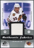 2010/11 Upper Deck SP Game Used Authentic Fabrics #AFDB Dustin Byfuglien