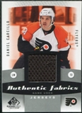 2010/11 Upper Deck SP Game Used Authentic Fabrics #AFDC Daniel Carcillo