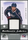 2010/11 Upper Deck SP Game Used Authentic Fabrics #AFDE Derick Brassard