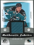 2010/11 Upper Deck SP Game Used Authentic Fabrics #AFDH Dany Heatley