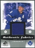 2010/11 Upper Deck SP Game Used Authentic Fabrics #AFDP Dion Phaneuf