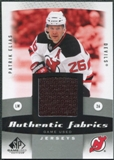 2010/11 Upper Deck SP Game Used Authentic Fabrics #AFEL Patrik Elias