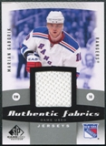2010/11 Upper Deck SP Game Used Authentic Fabrics #AFGA Marian Gaborik