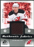 2010/11 Upper Deck SP Game Used Authentic Fabrics #AFIK Ilya Kovalchuk