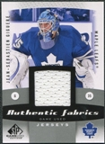 2010/11 Upper Deck SP Game Used Authentic Fabrics #AFJG Jean-Sebastien Giguere