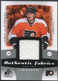 2010/11 Upper Deck SP Game Used Authentic Fabrics #AFJV James van Riemsdyk