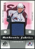 2010/11 Upper Deck SP Game Used Authentic Fabrics #AFMD Matt Duchene