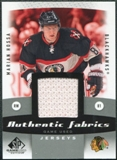 2010/11 Upper Deck SP Game Used Authentic Fabrics #AFMH Marian Hossa