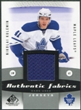 2010/11 Upper Deck SP Game Used Authentic Fabrics #AFNK Nikolai Kulemin