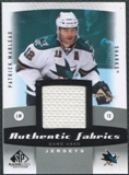 2010/11 Upper Deck SP Game Used Authentic Fabrics #AFPM Patrick Marleau