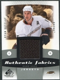 2010/11 Upper Deck SP Game Used Authentic Fabrics #AFRG Ryan Getzlaf