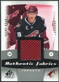 2010/11 Upper Deck SP Game Used Authentic Fabrics #AFSD Shane Doan