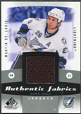2010/11 Upper Deck SP Game Used Authentic Fabrics #AFST Martin St. Louis