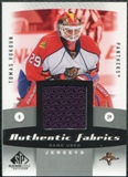 2010/11 Upper Deck SP Game Used Authentic Fabrics #AFVK Tomas Vokoun