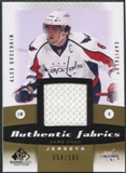 2010/11 Upper Deck SP Game Used Authentic Fabrics Gold #AFAO Alexander Ovechkin 54/100