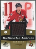 2010/11 Upper Deck SP Game Used Authentic Fabrics Gold #AFDA Daniel Alfredsson /100