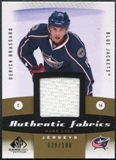 2010/11 Upper Deck SP Game Used Authentic Fabrics Gold #AFDE Derick Brassard /100