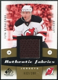 2010/11 Upper Deck SP Game Used Authentic Fabrics Gold #AFIK Ilya Kovalchuk /100