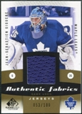 2010/11 Upper Deck SP Game Used Authentic Fabrics Gold #AFJG Jean-Sebastien Giguere /100